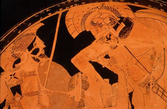 Achilles and Penthesilea - The Look of Love Detail of image above
