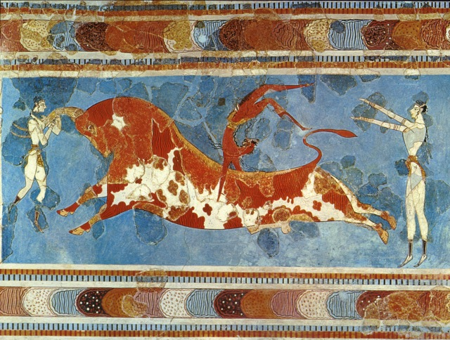 """Bull Leaping Fresco"" from the Palace of Minos at Knossos, Crete"
