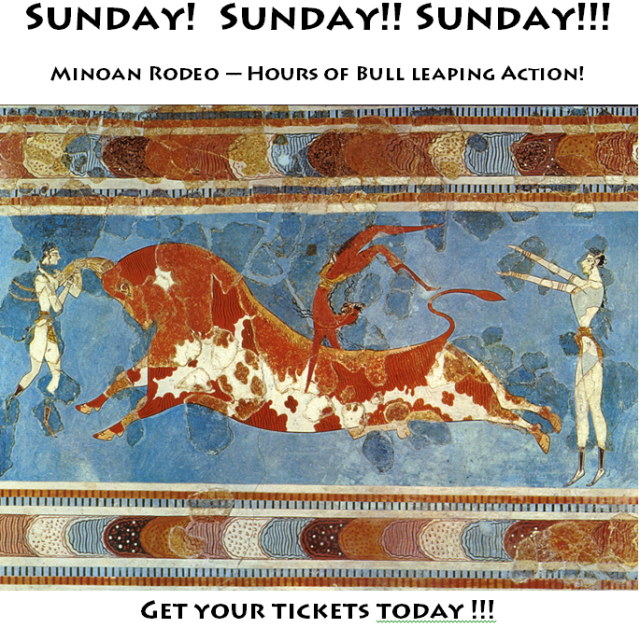 minoan rodeo poster