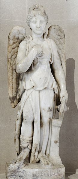 Nemesis, Roman marble from Egypt, 2nd century AD (Louvre)  Source:  Wikimedia Commons