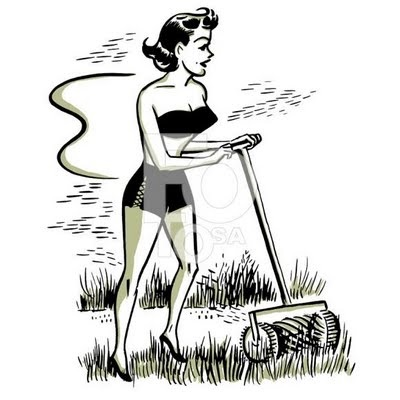 Yeah, this is definitely how I look when I'm mowing the lawn!