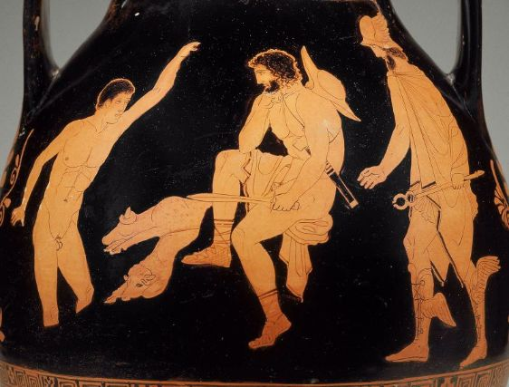 Scene from Homer's Odyssey - Odysseus visits the shade of Elpenor in the Underworld Source:  Museum of Fine Arts - Boston