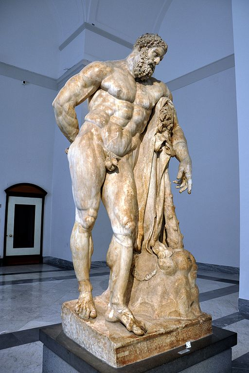 Herakles in a moment of rest... So-called Farnese Hercules Source:  Wikimedia