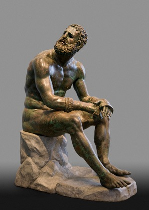 """Boxer at Rest"" Museo Nazionale Romano - Palazzo Massimo alle Terme, inv. 1055.  Lent to the Metropolitan Museum of Art by the Republic of Italy, 2013"