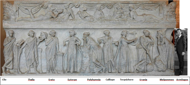 Armitage bumps out Sappho as the 10th Muse... Source:  Wikimedia with a little help from richardarmitagenet.com