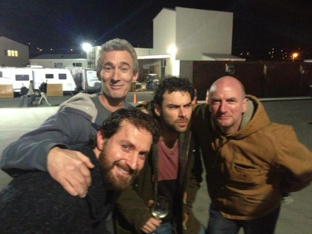 Wrap Party Candid  Courtesy of Jed Brophy's Twitter feed PS...Love the Carhartt Graham!