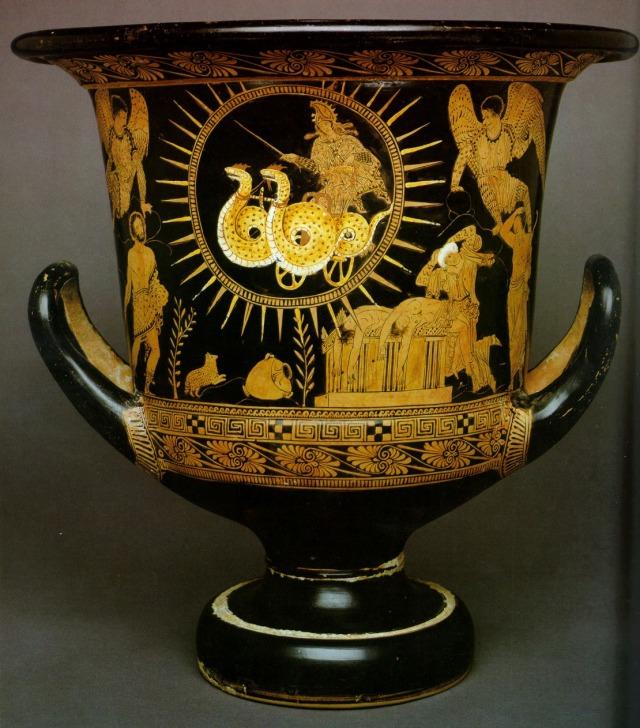 Medea escapes the scene... Source: http://iris.haverford.edu/ovid12/2012/02/25/heroides-xii-medea-iasoni/