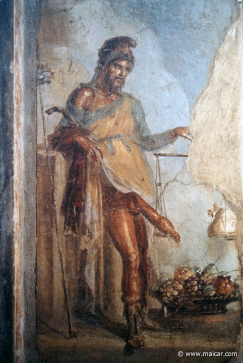 Fresco of Priapus from the House of the Vettii at Pompeii