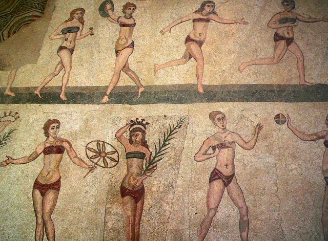 This is often referred to as the Bikini Mosaic