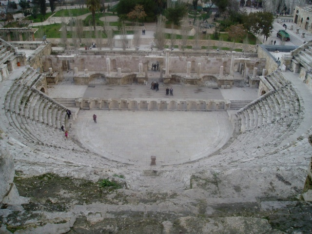 Roman theater - Amman, Jordan Source:  Wikimedia Commons