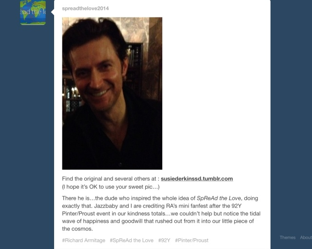 Richard's been Spreading the Love too!