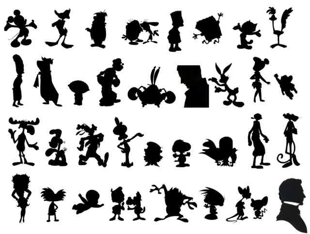 I am proud/horrified to say that I could identify all but two silhouettes...that is what I'm going to call a high PopCulture IQ!  (Not too much TV...no, not that...)