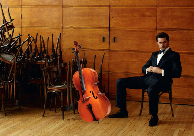 I wonder if years playing the cello have anything to do with the famously open sitting position?