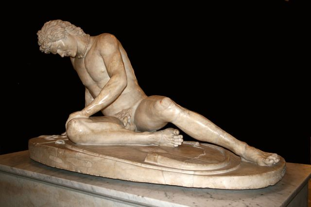 """The Dying Gaul"" 2nd cent AD Roman copy of 3Rd cent BC original Source"