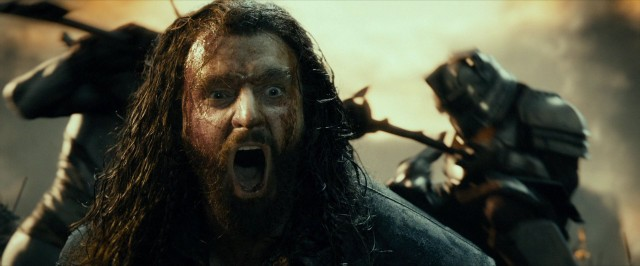 I've been making a weird squacking noise all day, which might be a stifled version of Thorin's majestic scream. Source:  RichardArmitagenet.com