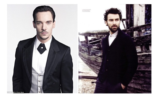 Left:  Jonathan Rhys Meyers (Source) Right:  Aidan Turner (Source)