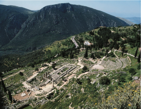 The Sacred Way zig zags up a pretty decent incline here at Delphi...my students were bellyaching about going to the top...