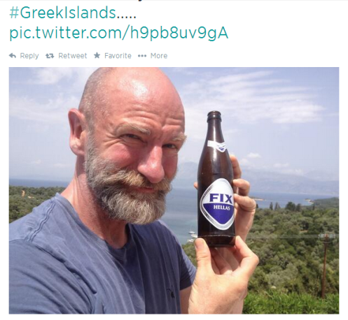Tweeted from the Greek Isles a few weeks ago.