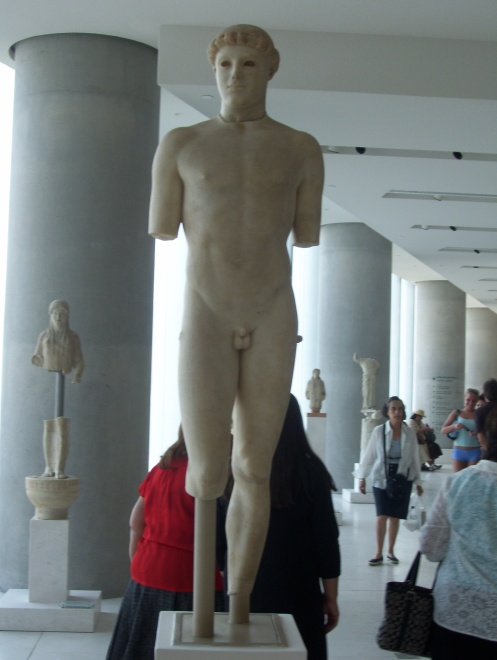 Located in the Acropolis Museum in Athens - my shot  (not the human figures for scale)