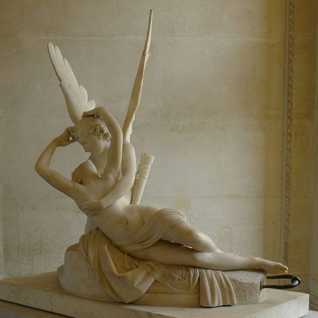 Psyche awakened by Cupid's kiss by Canova Source