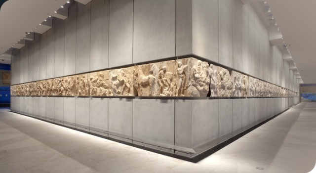 View of West and SW frieze in Acropolis Museum, Athens Source