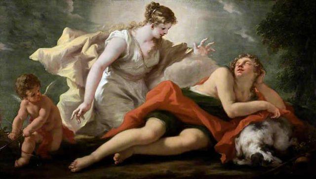 Selene & Endymion  by Giovanni Antonio Pellegrini Source