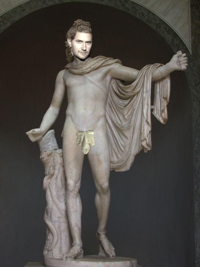 See - I even gave him a handy fig leaf just in case...    :D   (I'm sorry Apollo Belvedere!!)