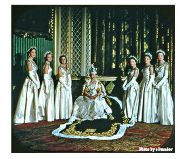 Queen Elizabeth II and her ladies