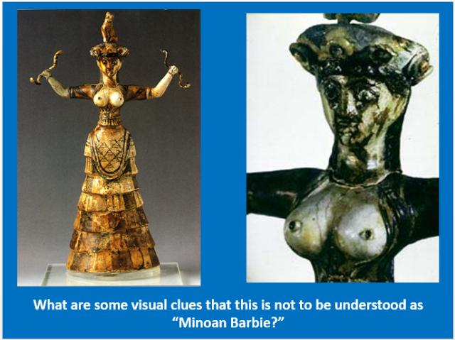 "Minoan ""Snake Goddess"" from Knossos, Crete"