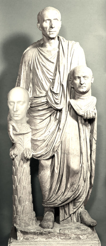 A Roman Patrician with his ancestors...or one of them anyway....