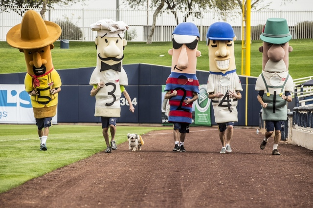 The Klement's Sausage Races at Milwaukee's Miller Park