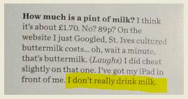 milk snip