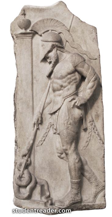 warrior stele