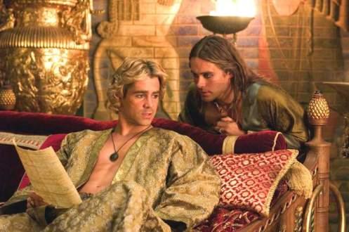 Alexander (Farrell) and Hephaestion (Jared Leto)