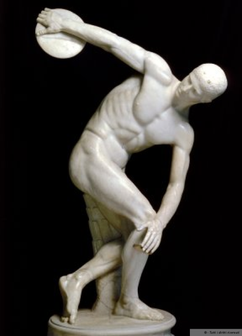 """1.The """"structural"""" similarities of Daniel Miller and the Discobolus of Myron"""